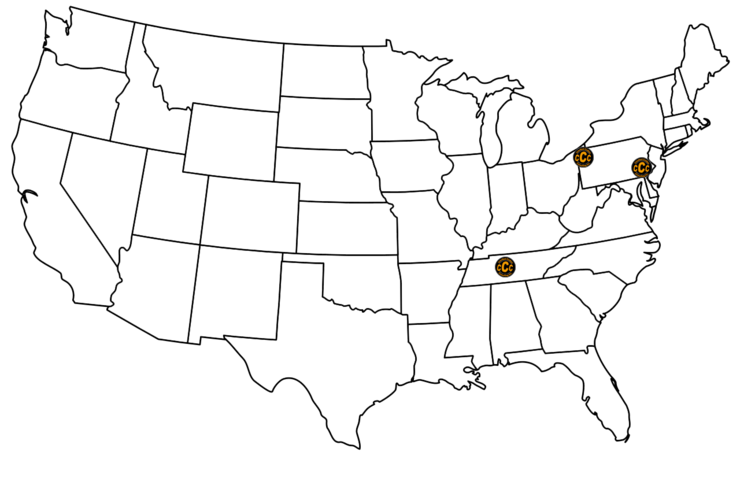 Contact Crawford Custom Consulting - Fill in us map